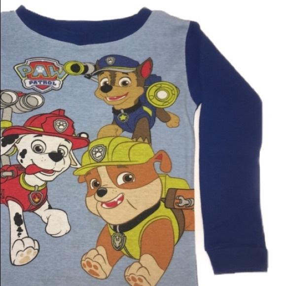 Boys/' Christmas Long Sleeve Shirts Minions Paw Patrol Chase Rubble Marshall  NWT